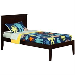 Atlantic Furniture Madison Panel Platform Bed in Espresso (A)
