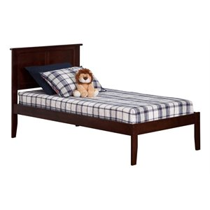 Atlantic Furniture Madison Panel Platform Bed in Walnut (A)
