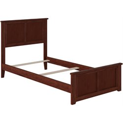 Atlantic Furniture Madison Panel Platform Bed in Walnut (B)