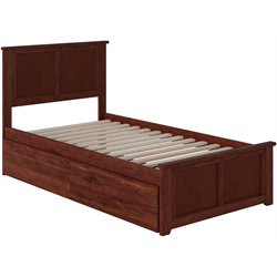 Atlantic Furniture Madison Urban Storage Panel Platform Bed in Walnut (B)