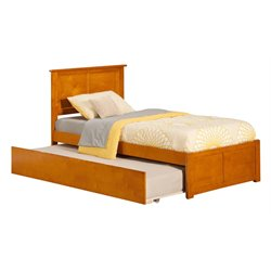 Atlantic Furniture Madison Urban Trundle Panel Platform Bed in Caramel Latte (A)