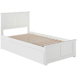 Atlantic Furniture Madison Urban Trundle Panel Platform Bed in White (B)