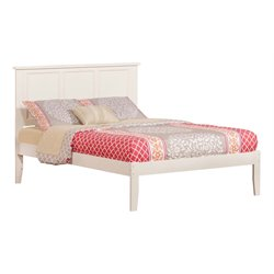 Atlantic Furniture Madison Panel Platform Bed in White (A)