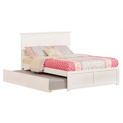 Atlantic Furniture Madison Urban Trundle Panel Platform Bed in White (A)
