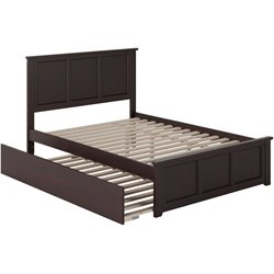 Atlantic Furniture Madison Urban Trundle Panel Platform Bed in Espresso (B)