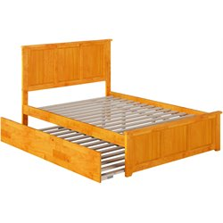 Atlantic Furniture Madison Urban Trundle Panel Platform Bed in Caramel Latte (B)