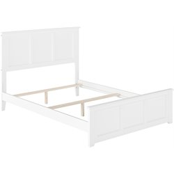 Atlantic Furniture Madison Panel Platform Bed in White (B)