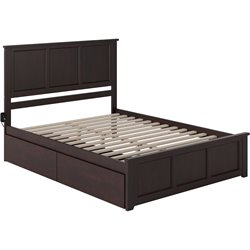Atlantic Furniture Madison Urban Storage Panel Platform Bed in Espresso (B)