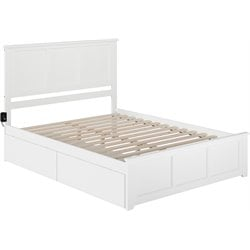Atlantic Furniture Madison Urban Storage Panel Platform Bed in White (B)
