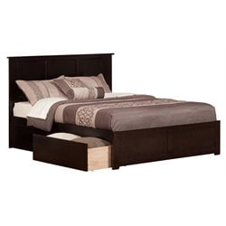 Atlantic Furniture Madison Urban Storage Panel Platform Bed in Espresso (A)