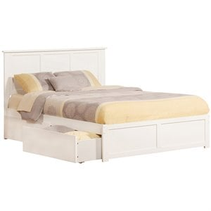 Atlantic Furniture Madison Urban Storage Panel Platform Bed in White (A)
