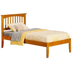 Atlantic Furniture Mission Spindle Platform Bed in Caramel Latte (A)
