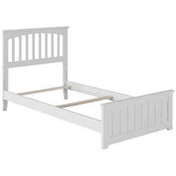 Atlantic Furniture Mission Spindle Platform Bed in White (B)