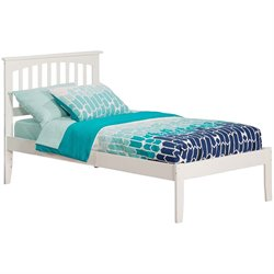 Atlantic Furniture Mission Spindle Platform Bed in White (A)
