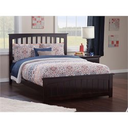 Atlantic Furniture Mission Spindle Platform Bed in Espresso (B)