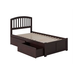 Atlantic Furniture Richmond Urban Storage Spindle Platform Bed in Espresso (A)