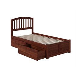 Atlantic Furniture Richmond Urban Storage Spindle Platform Bed in Walnut (A)