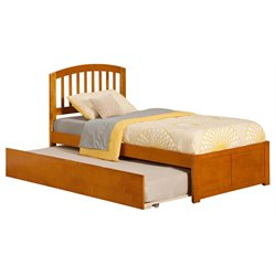 Atlantic Furniture Richmond Urban Trundle Spindle Platform Bed in Caramel Latte (A)