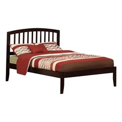 Atlantic Furniture Richmond Spindle Platform Bed in Espresso (A)