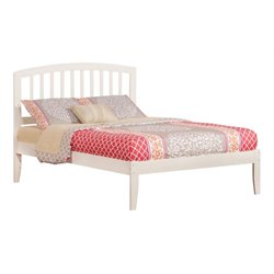 Atlantic Furniture Richmond Spindle Platform Bed in White (A)