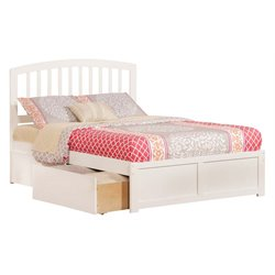Atlantic Furniture Richmond Urban Storage Spindle Platform Bed in White (A)