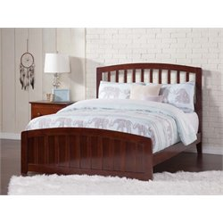 Atlantic Furniture Richmond Spindle Platform Bed in Walnut (B)