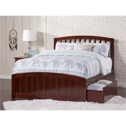 Atlantic Furniture Richmond Urban Storage Spindle Platform Bed in Walnut (B)