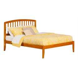 Atlantic Furniture Richmond Spindle Platform Bed in Caramel Latte (A)