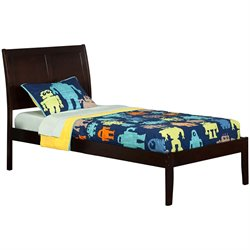 Atlantic Furniture Portland Sleigh Platform Bed in Espresso (A)