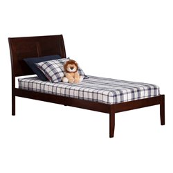 Atlantic Furniture Portland Sleigh Platform Bed in Walnut (A)
