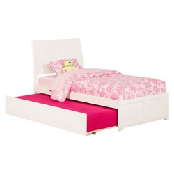 Atlantic Furniture Portland Urban Trundle Sleigh Platform Bed in White (A)