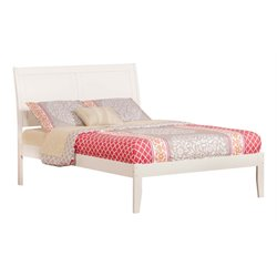 Atlantic Furniture Portland Sleigh Platform Bed in White (A)