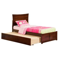 Atlantic Furniture Metro Urban Trundle Panel Platform Bed in Walnut (A)