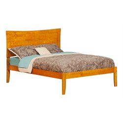 Atlantic Furniture Metro Panel Platform Bed in Caramel Latte (A)