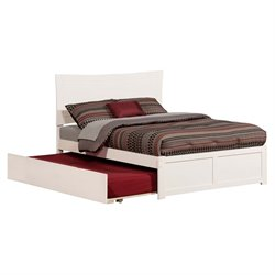 Atlantic Furniture Metro Urban Trundle Panel Platform Bed in White (A)