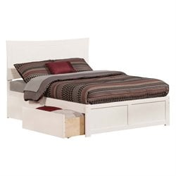 Atlantic Furniture Metro Urban Storage Panel Platform Bed in White (A)