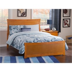 Atlantic Furniture Metro Panel Platform Bed in Caramel Latte (B)
