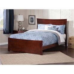 Atlantic Furniture Metro Panel Platform Bed in Walnut (B)