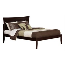 Atlantic Furniture Metro Panel Platform Bed in Espresso (A)