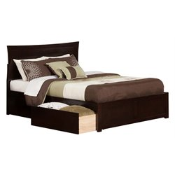Atlantic Furniture Metro Urban Storage Panel Platform Bed in Espresso (A)