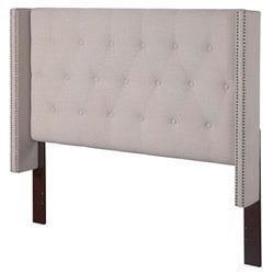 Atlantic Furniture Hadleigh Upholstered Queen Headboard in Pebble Beach