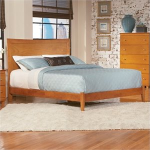 Atlantic Furniture Miami Modern Platform Bed in Caramel Latte