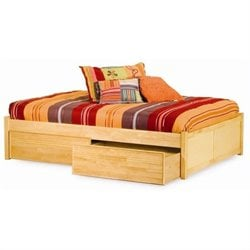 Atlantic Furniture Concord Platform Bed with Flat Panel Footboard in Natural Maple - Full