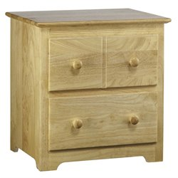Atlantic Furniture Windsor 2 Drawer Nightstand in Natural Maple