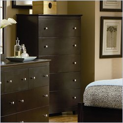 Atlantic Furniture Miami 5 Drawer Chest in Espresso