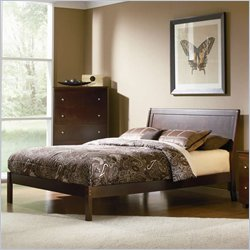 Atlantic Furniture Studio Portland Queen Platform Bed with Open Footrail in Antique Walnut