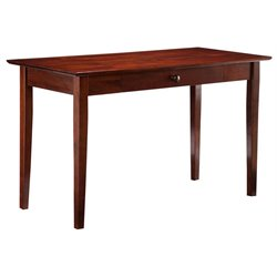 Atlantic Furniture Shaker Desk with Drawer in Walnut