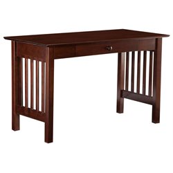 Atlantic Furniture Mission Desk with Drawer in Walnut