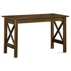 Atlantic Furniture Lexington Work Table in Antique Walnut