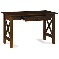 Atlantic Furniture Lexi Desk with Drawer in Walnut